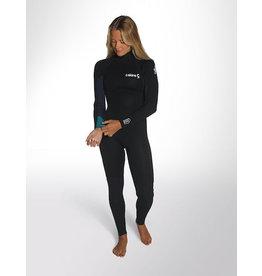 C-Skins C-Skins - 5/4 – Surflite - S (36/US6) - Womens – Ink/Azu/Yel