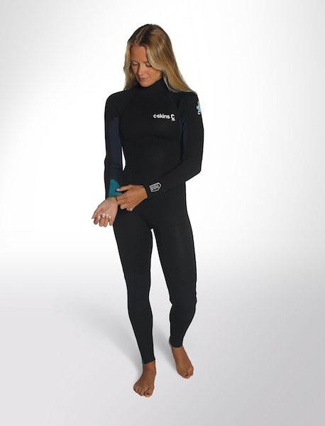 C-Skins C-Skins - 5/4 – Surflite - ML (US10) - Womens – Ink/Azu/Yel