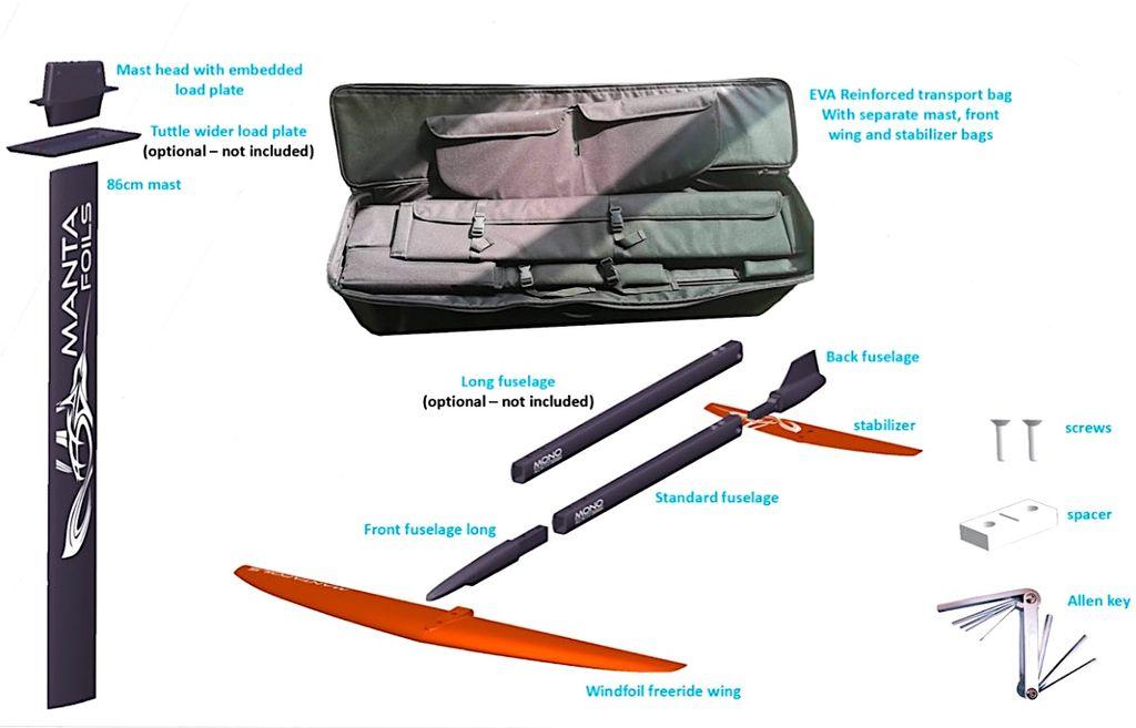 Mantafoil Mantafoil Mono Windfoil Aluminium/Glassfiber
