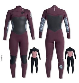 C-Skins C-Skins - 5/3mm - Womens Solace FZ - UK 14 - Wine