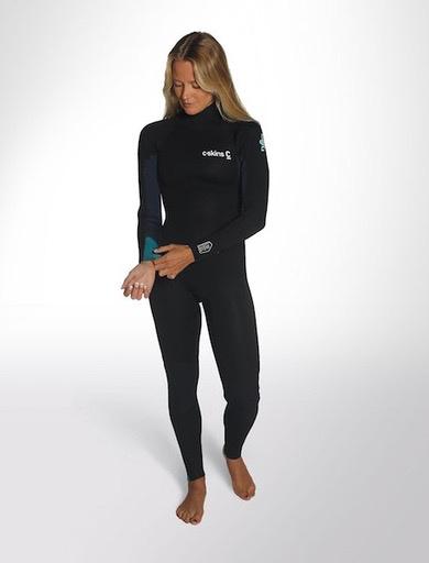 C-Skins C-Skins - 5/4 – Surflite - XS (32/US2) - Womens – Ink/Azu/Yel