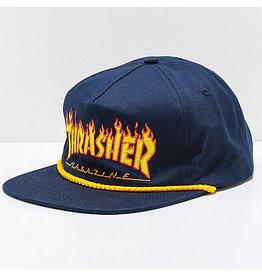 Thrasher Thrasher - Flame Rope - Snapback - Navy