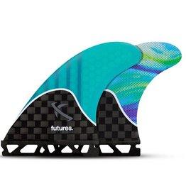 Future Fins Futures - LOST MED TRI GEN series - Teal Swirl - M (65kg - 88kg)