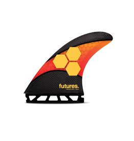 Future Fins Futures - AM2 Techflex - Orange/Red - L (80kg+)