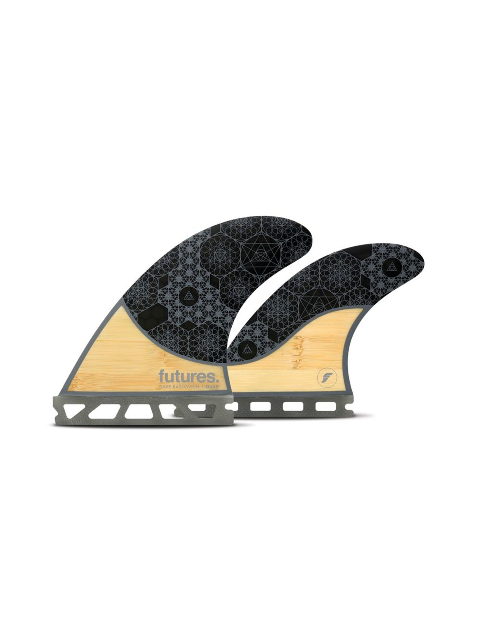 Future Fins Futures - RASTA QUAD Honeycomb - Bamboo/Grey - M (65kg - 88kg)