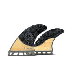 Future Fins Futures - RASTA QUAD Honeycomb - Bamboo/Grey - M (65kg - 88kg)