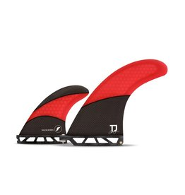 Future Fins Futures - TAYLOR JENSEN 2.0 2+1 Honeycomb - Burgundy/carbon