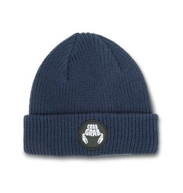 Crab Grab Crab Grab - Circle Patch Beanie - Navy