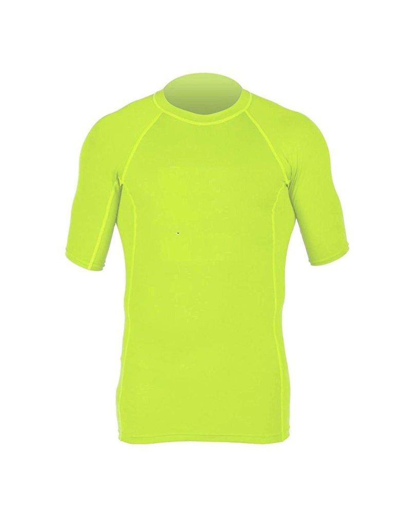 C-Skins -  Mens contest vest Short Sleeve UV Skins  - FLO GREEN - M