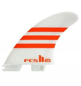 "FCS FCS II ""3Fin - Julian Wilson's PC Large Orange/White Tri Fins (75-90kg)"