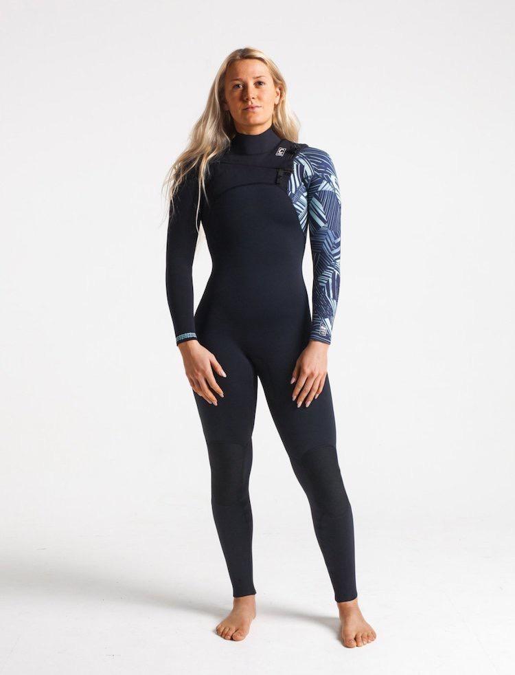 C-Skins C-Skins - 4/3 - ReWired Womens GBS FZ - UK 4 - Black/Shade/Ice Blue