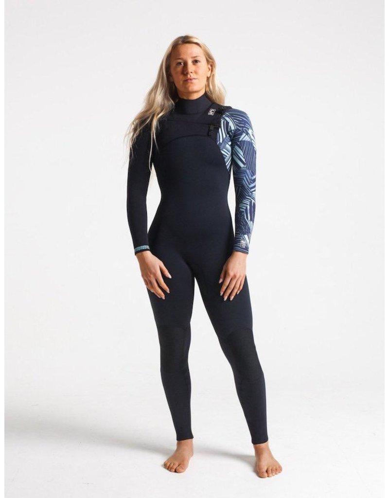C-Skins C-Skins - 4/3 - ReWired Womens GBS FZ - UK 8 - Black/Shade/Ice Blue