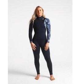C-Skins C-Skins - 4/3 - ReWired Womens GBS FZ - UK 12 - Black/Shade/Ice Blue