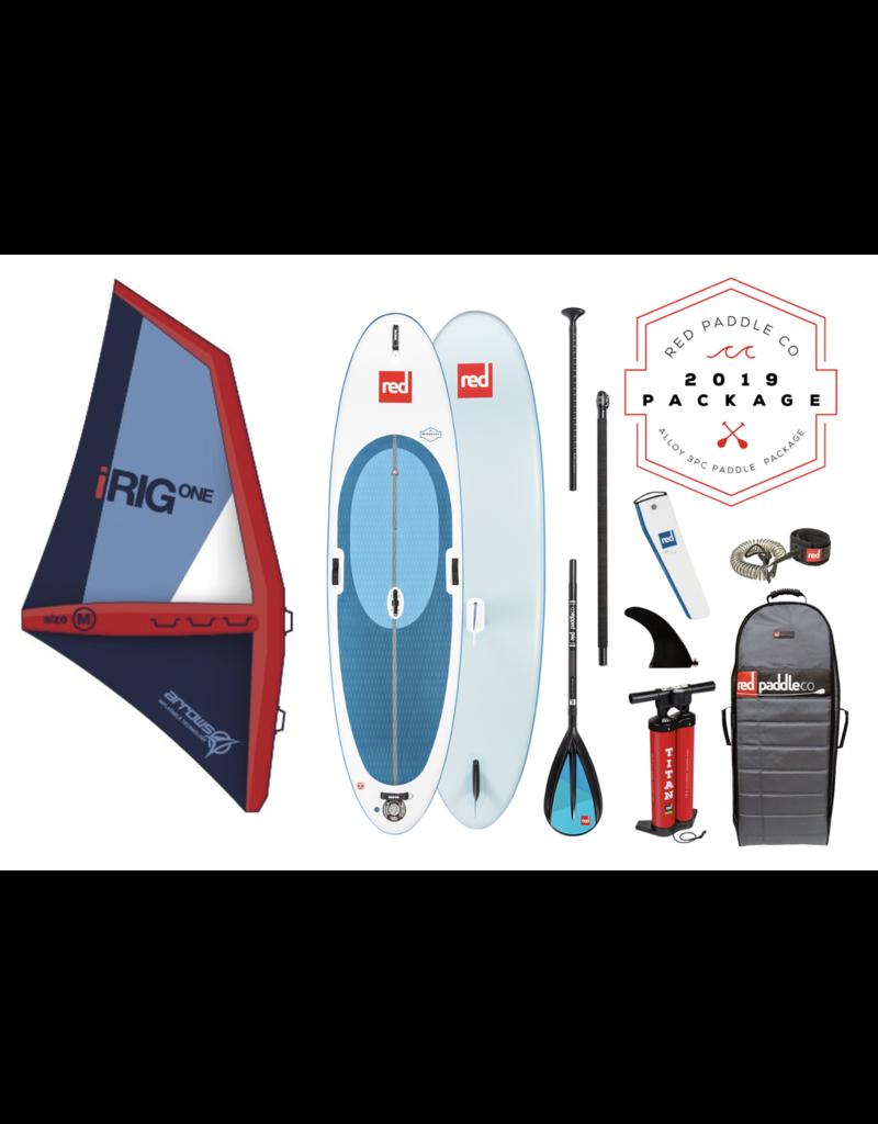 RedPaddleCo RED - Windsurf 10'7 med 3-delt Alu/Nylon åre og seil