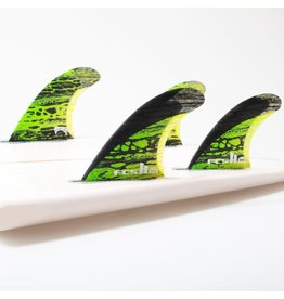 FCS FCS II MB PC Carbon Green Medium Tri-Quad-Fins