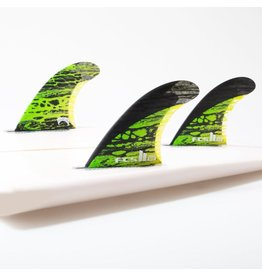 FCS FCS II MB PC Carbon Green Medium Tri-Fins