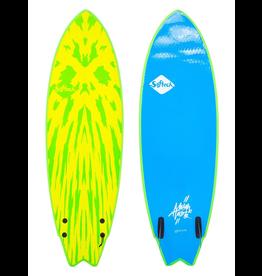 Softech Softech - 5'6 Mason Twin - Lime/Yellow