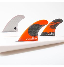 FCS FCS II - 3Fin - GM PC Carbon Fluro Orange - Large