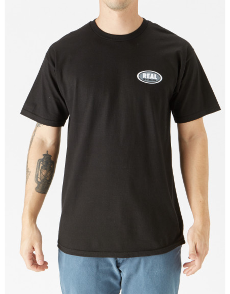 Real Real - Small Oval Tee - Black - XL