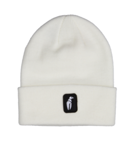 Crab Grab Crab Grab - Tall Claw Beanie - White