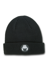 Crab Grab Crab Grab - Circle Patch Beanie - Black