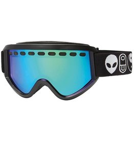 Airblaster Airblaster - Savage Air Goggle − Black Matte (Green Air Radium)