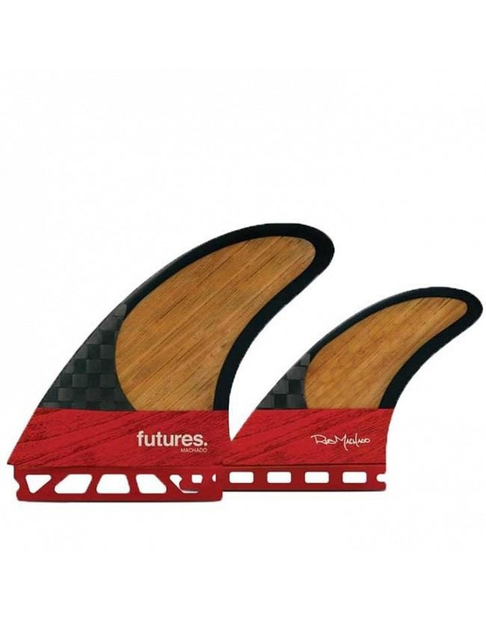 Future Fins Futures 3Fin ROB MACHADO TWIN 2+1 Blackstix 3.0 - Carbon/Bamboo - M (65kg - 88kg)