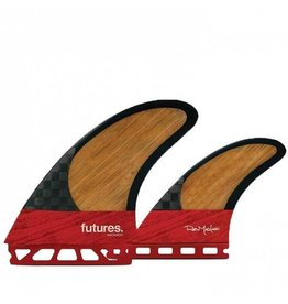 Future Fins Futures 3Fin ROB MACHADO TWIN 2+1 Blackstix 3.0 - Carbon/Bamboo - M (65kg - 88kg)