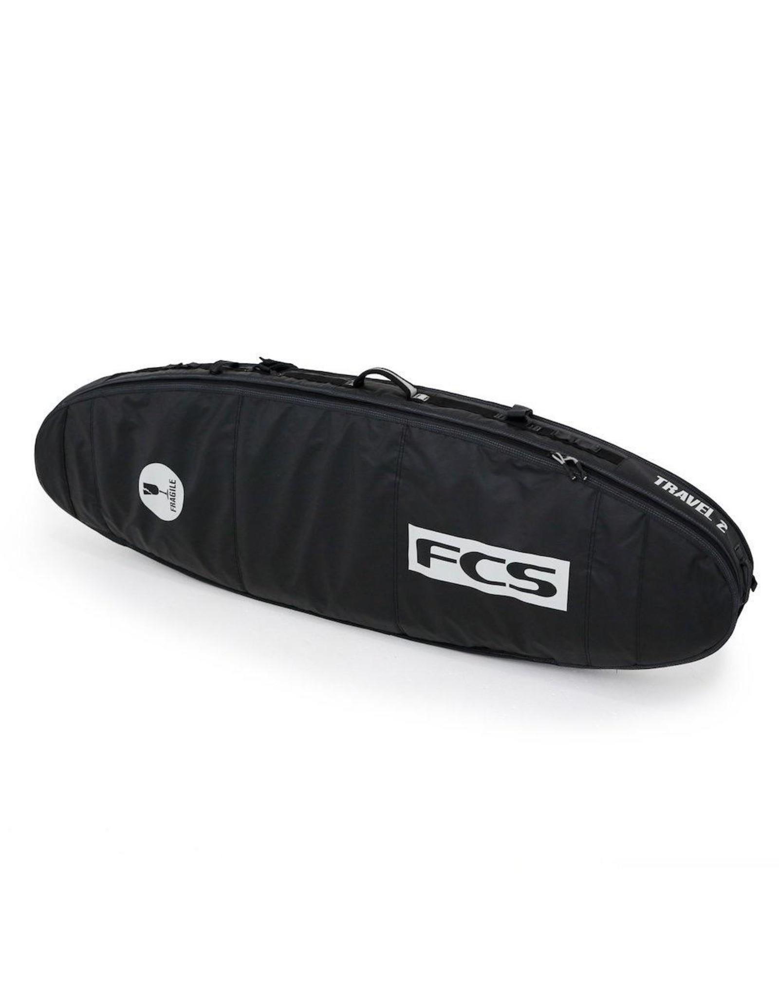 FCS FCS - Travel 2  Fun Board - 8'0 - Black/Grey - Boardbag
