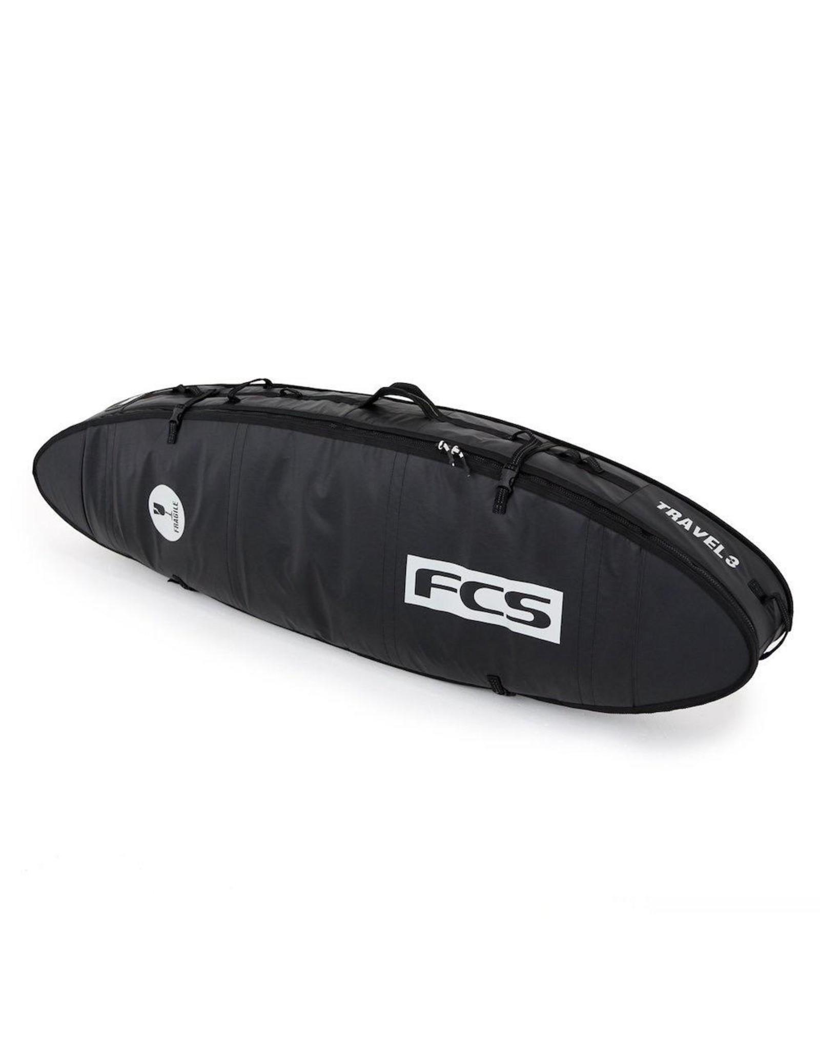 FCS FCS - Travel 3 All Purpose - 6'7 - Black/Grey - Boardbag