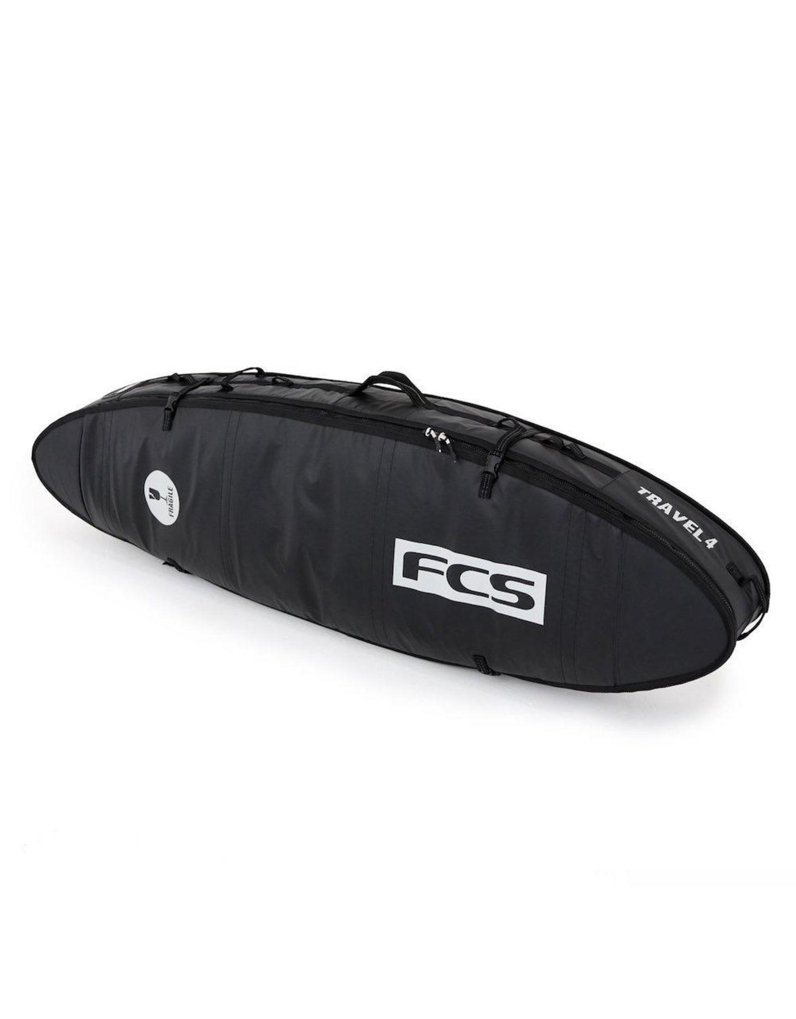 FCS FCS - Travel 4 All Purpose Travel Cover - 6'7 - Black/Grey - Boardbag