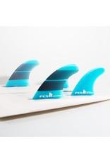 FCS2 - 4Fin - Performer Neo Glass - Teal Gradient  - Medium (65-80kg)