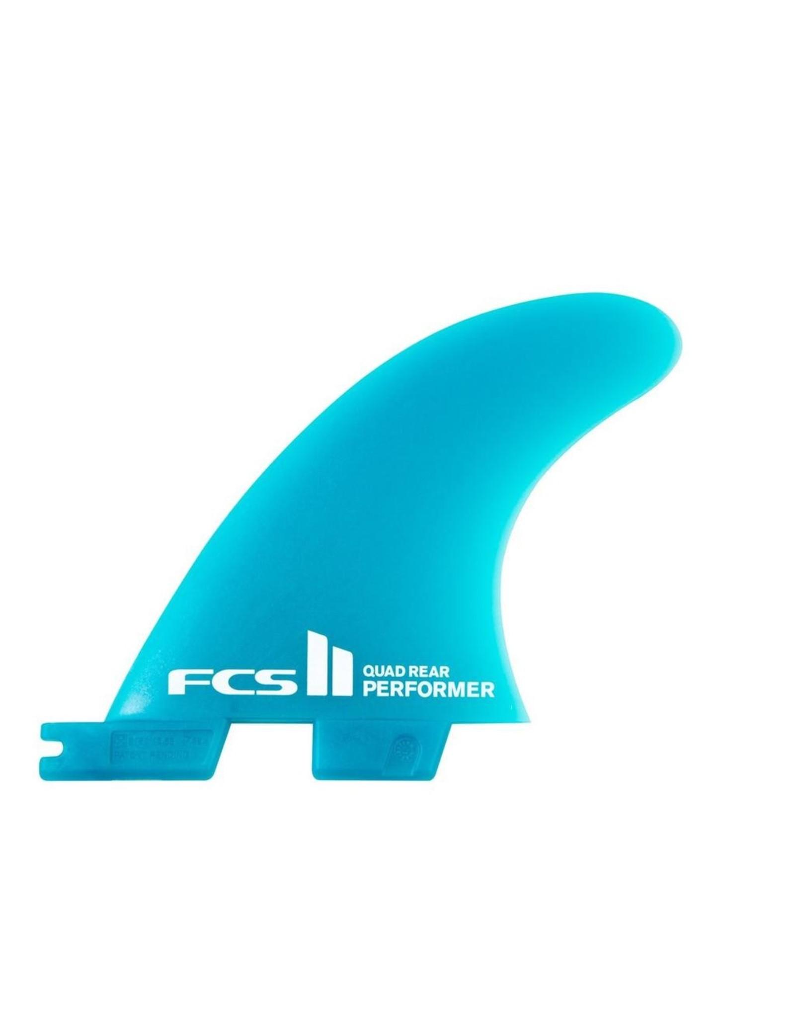 FCS FCS2 - 2Fin - Performer Neo Glass Medium Quad Rear - Teal - Large (75-90kg)
