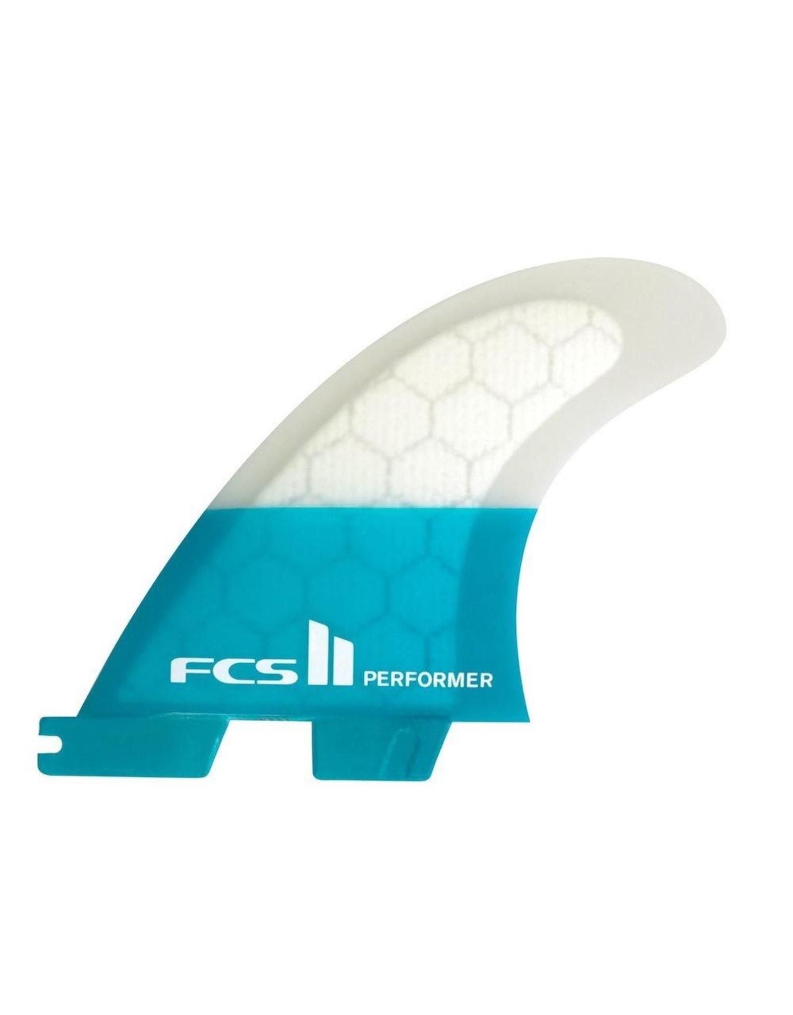 FCS FCS2 - 1Fin - Performer PC Teal Right Fin  - Teal - Medium (65-80kg)