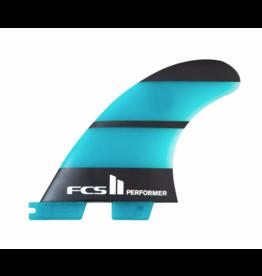 FCS FCS2 - 1Fin - Performer Neo Glass Left Fin  - Teal/Black - Medium (65-80kg)