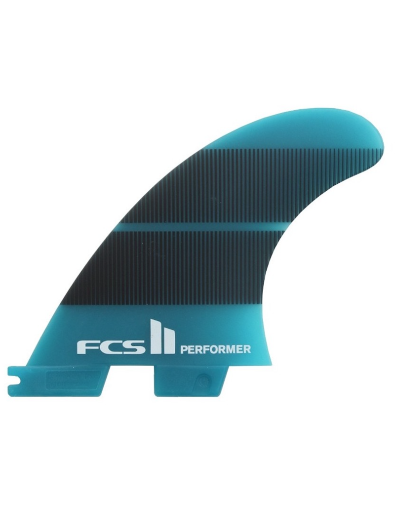 FCS FCS2 - 1Fin - Performer Neo Glass Right Fin  - Teal/Gradient - M (65kg - 88kg)