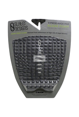 Firewire Firewire - Slater 3-Piece Arch - Traction Pad - Black/Grey