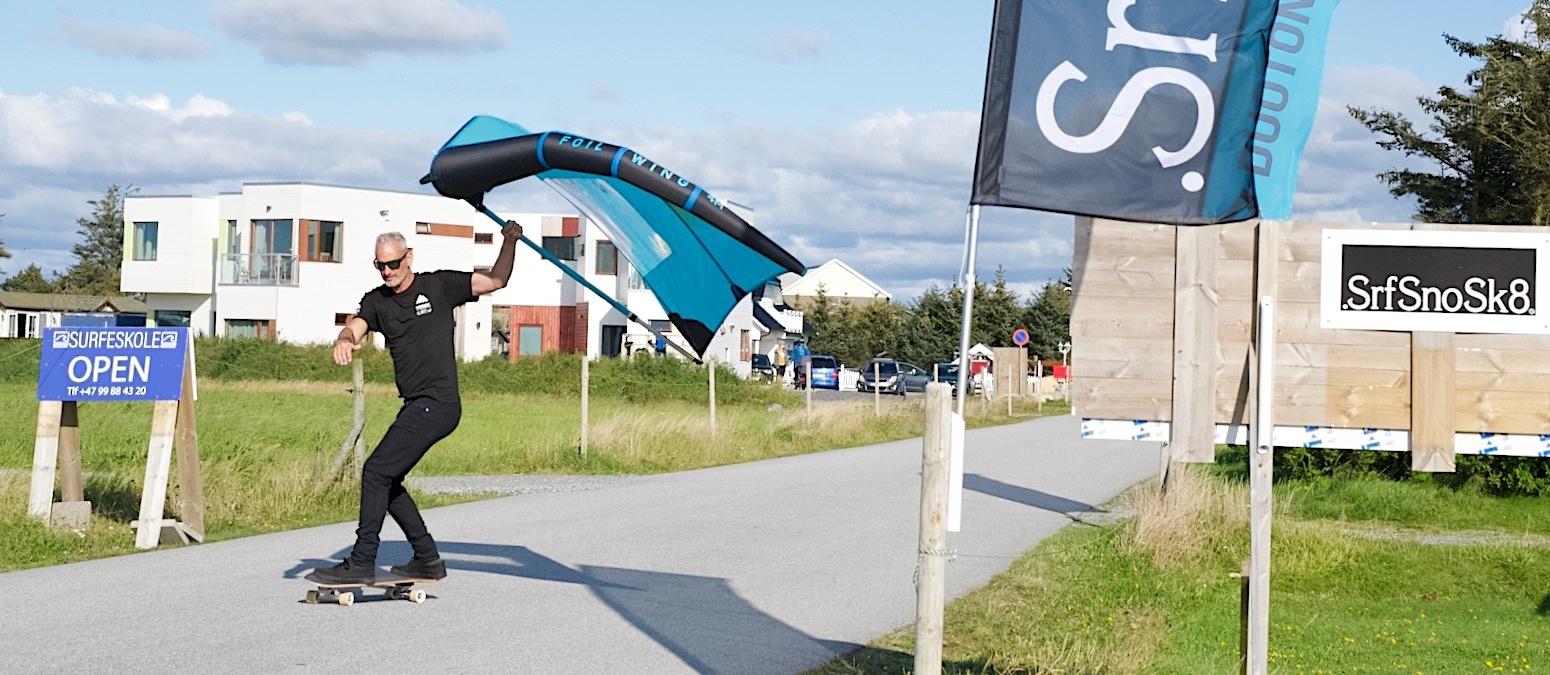 Foilwing surfskate