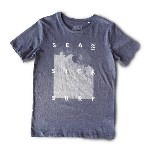 Sea sick tee slub heather blue