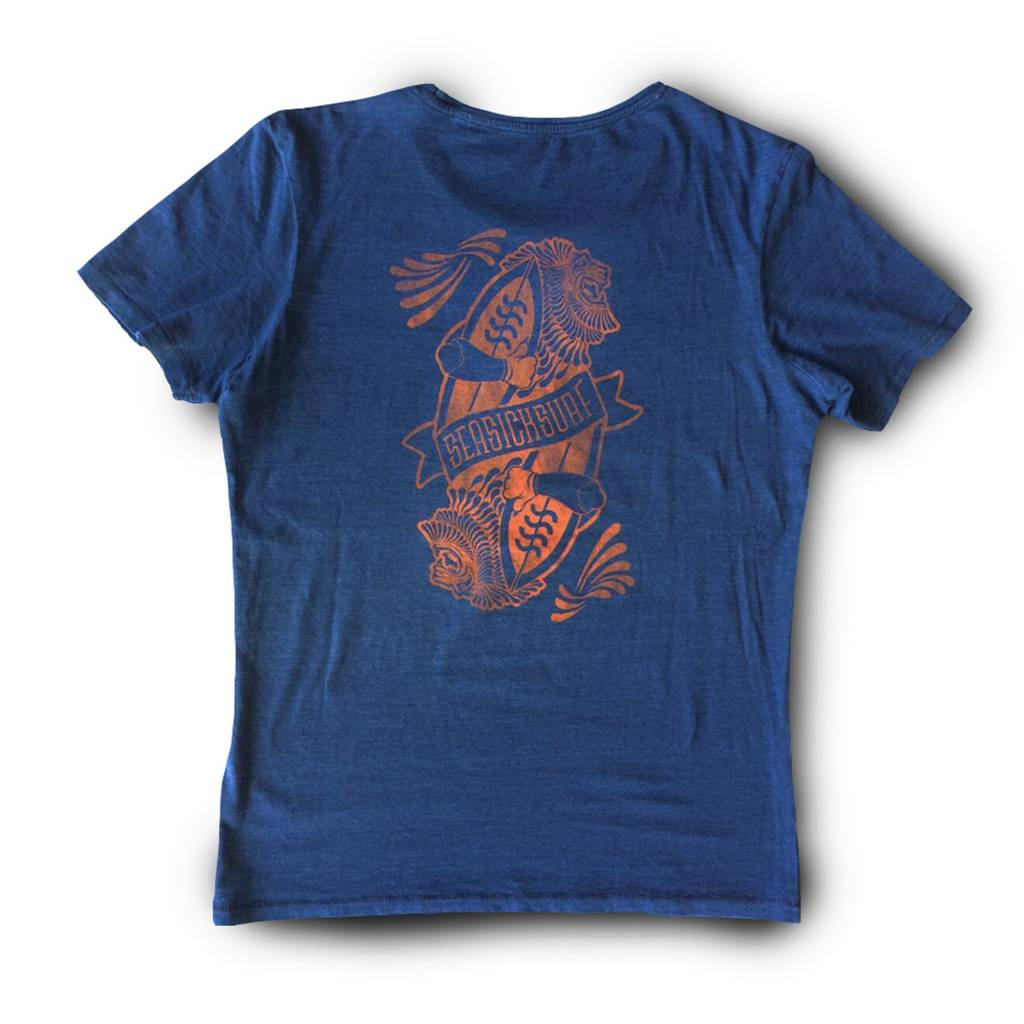 Sea Sick Surf Sea Sick Surf Lion tee - men's Indigo red print