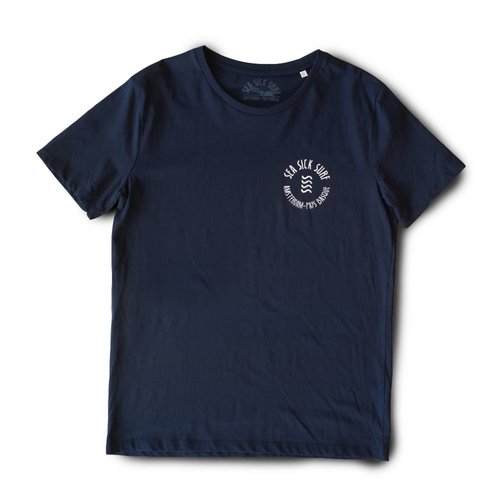 Sea Sick Surf Sea Sick Surf Men's tee navy round logo