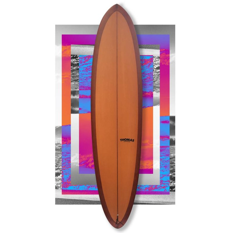 """Thomas Bexon Midlength Friend 7'6"""" Brown // SOLD"""