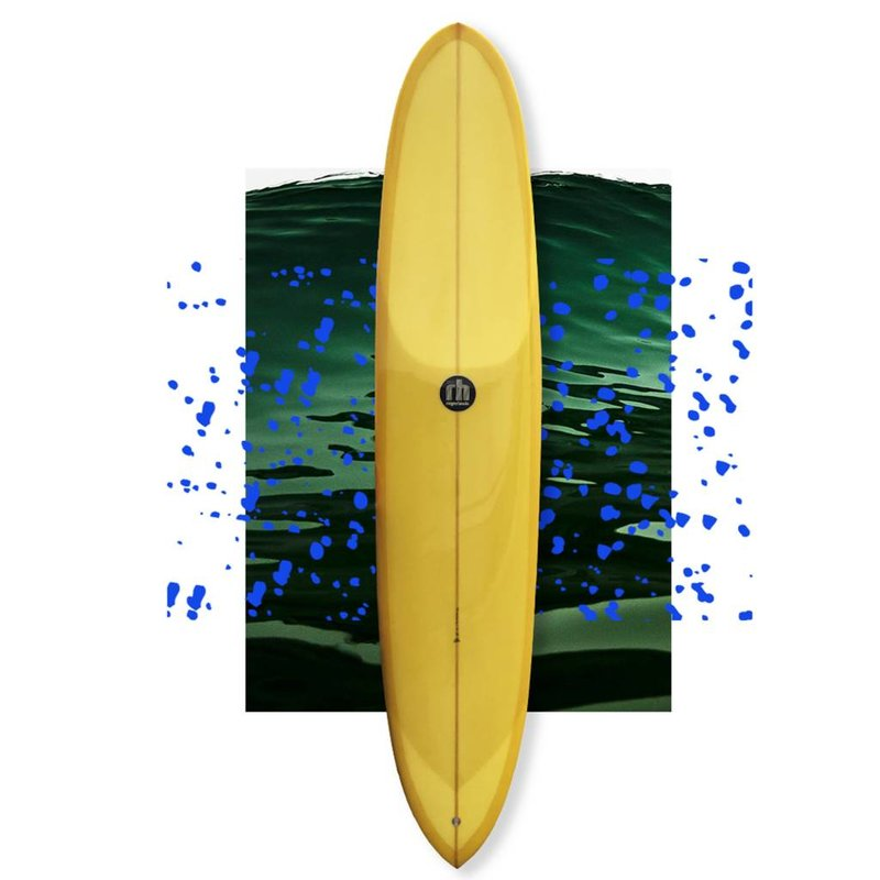Roger Hinds dream step deck yellow 9'4 // SOLD