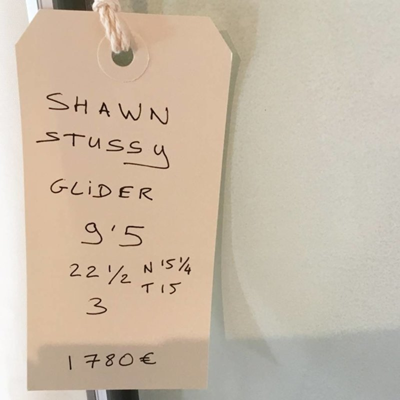 Shawn Stussy glider 9'5 yellow // SOLD