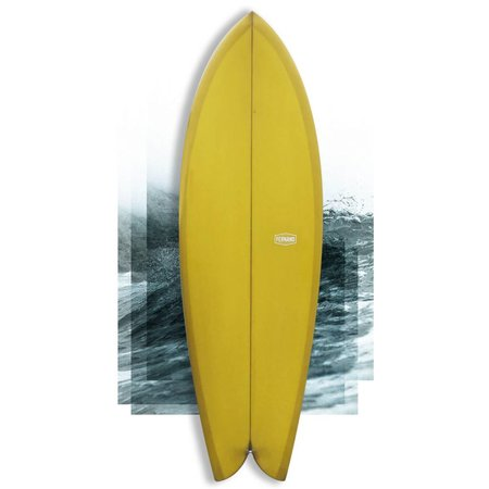 """Fernand fish """"Number Two"""" 5'8 yellow // SOLD"""