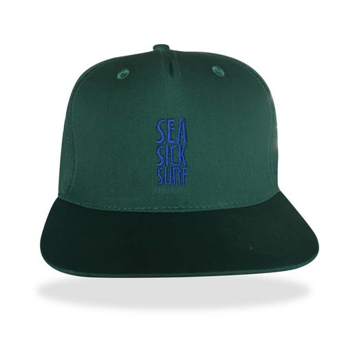 Sea Sick Surf Sea sick 5 panel snapback cap green