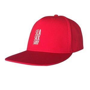 Sea Sick Surf Sea sick 5 panel snapback cap red