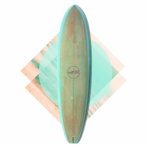 Monster edge rail single 7'3 turquoise