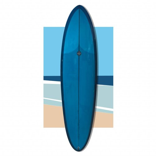 Josh hall panacea egg 7' BLUE polish // SOLD