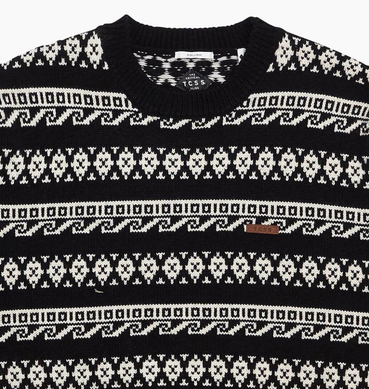 The Critical Slide Society TCSS Ruins Crew Black Sweater